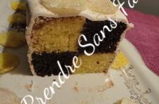 Cake Battenberg vanille, chocolat, framboises