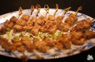 Brochettes japonaises Yakitori au poulet
