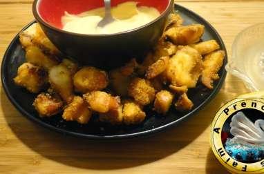 Encornets croustillants à la mayonnaise à l'ail