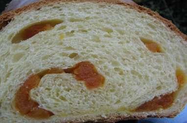 Pain brioché aux abricots secs