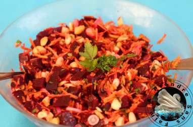 Salade de betteraves aux amandes et noix de cajou