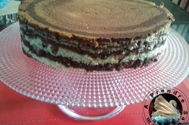Gâteau marbré vanille, chocolat, orange (pas à pas en photo)
