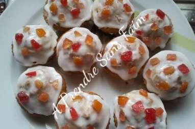 Cupcakes aux fruits confits