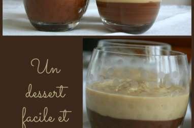 Crème chocolat noir et praliné