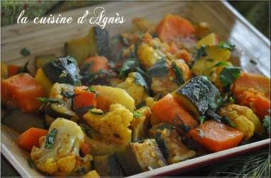 méli mélo de légumes à l'indienne