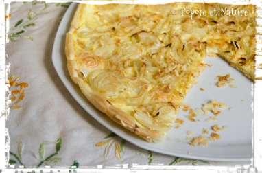 La simplicité d'une tarte aux oignons croustillante
