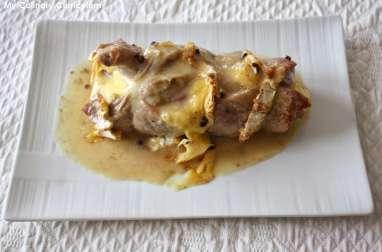 Filet mignon de porc farci au camembert