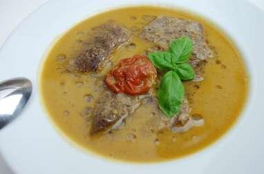 Bouillon (soupe) de veau aux saveurs d'Afrique