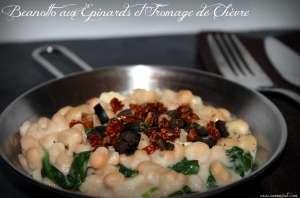 Beanotto aux épinards et fromage de chèvre