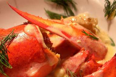 Homard et langoustines, sauce Champagne et orange