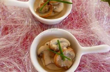 Mini cassolette boudin blanc,champignons et foie gras