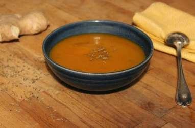 Soupe de potiron, gingembre et cumin