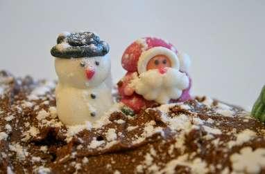 Bûche de Noël tiramisu au café, cacao et mascarpone