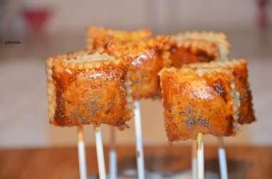 sucettes croustillantes au saumon fumé