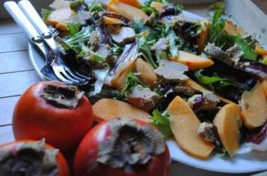 Salade gasconne de Noël aux kakis