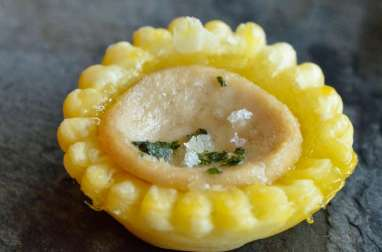 Tartelettes au boudin blanc et marmelade d'agrumes
