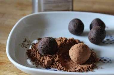 Truffes au chocolat et à l'huile d'olive