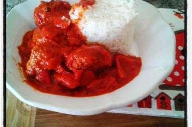 Boulettes de viande façon tajine à la tomate et aux poivrons
