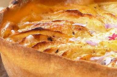 Tarte au potiron, pommes et fève tonka