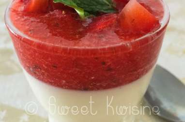 La panna cotta à la fraise