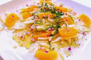 Salade de Fenouil à l'Orange Vinaigrette au Miel et Échalote