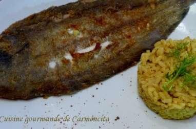 Sole à la poêle et risotto de curry