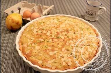 Tarte amandine poire et pistaches