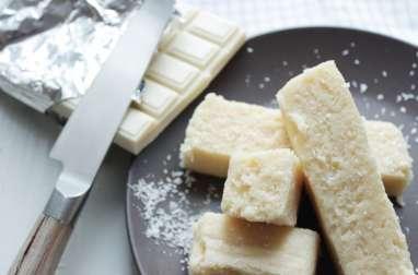 Fondant noix de coco chocolat blanc