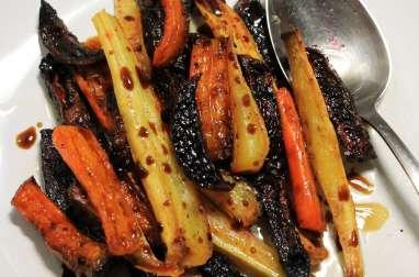 Légumes-racines rôtis au four