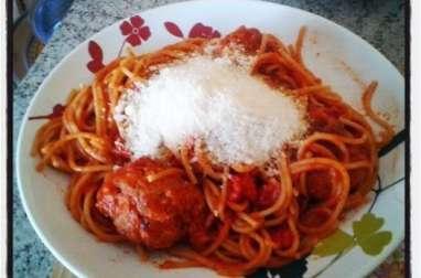 Spaghettis integrale aux boulettes de viande