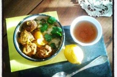 Tajine kefta de veau au citron confit et à la coriandre