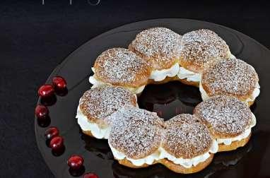 Couronne de choux cranberries poire vanille