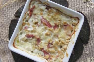 Gratin de crozets au jambon sec et à la tomme de Savoie