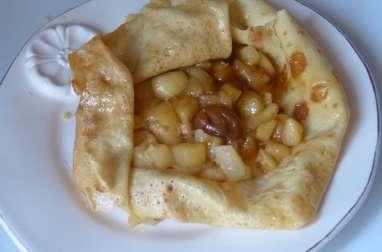 Crêpes aux pommes fondantes et crème caramel au beurre salé