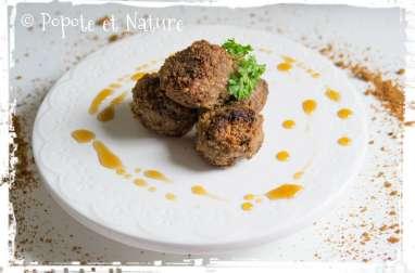 Boulettes de viande en croûte de Spéculoos et au sirop d'érable