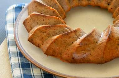 Gâteau moelleux noisettes, pralinoise et pommes