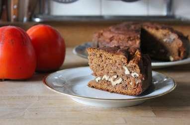 Gâteau aux kakis et aux noix