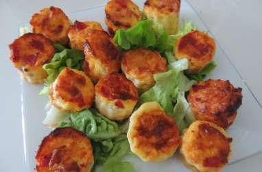 Cannelés pancetta et fromage râpé
