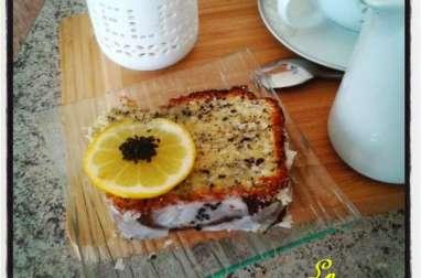 Cake citron, citron vert au mascarpone sésame noir et pavot