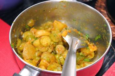 Curry de tindora et pommes de terre
