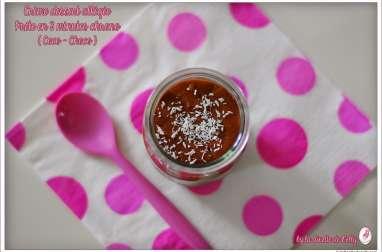 "Crème dessert allégée express ""Coco-Chocolat"""