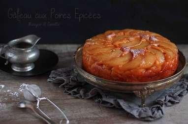 Gâteau aux Poires Épicées à la Cannelle et au Gingembre