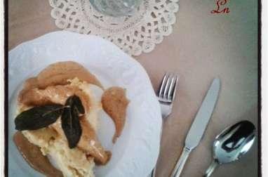 Filets de lapin à la sauge et au Monbazillac , écrasé de céleri et pomme de terre au beurre d'Isigny