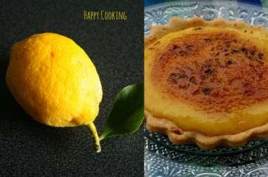Tarte au citron façon crème brulée