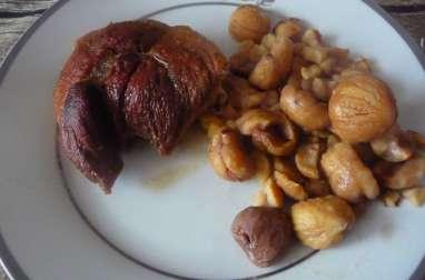 Rouelle de porc confite au miel et aux épices