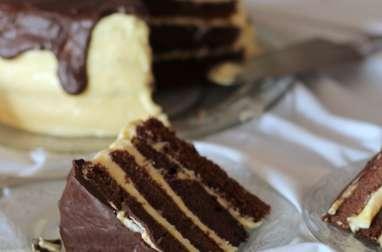 Layer cake chocolat mangue