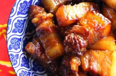 Porc braisé et caramélisé à la chinoise