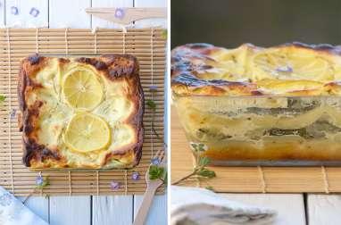 Lasagnes au citron et courgettes