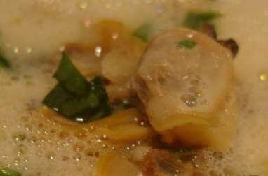 Velouté de coquillages au curry