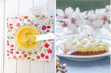 Tarte au lemon curd, citron vert et cédrat façon Key Lime Pie